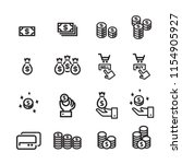 money line icon set    Shutterstock .eps vector #1154905927