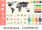 collection of infographic... | Shutterstock .eps vector #1154908741