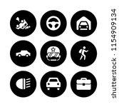 9 journey icons in vector set....   Shutterstock .eps vector #1154909134