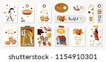 set of autumnal card for... | Shutterstock .eps vector #1154910301