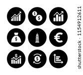 9 exchange icons in vector set. ... | Shutterstock .eps vector #1154912611