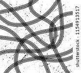 black tire tracks swirl with... | Shutterstock .eps vector #1154913517