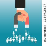 lead generation. magnet in hand ... | Shutterstock .eps vector #1154915677