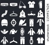 set of 25 icons such as shirt ...