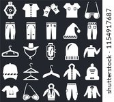 set of 25 icons such as coat ...