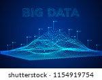 big data visualization. machine ...   Shutterstock . vector #1154919754