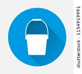 bucket vector icon on blue... | Shutterstock .eps vector #1154919991