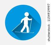 vector sportsmen icon. skier... | Shutterstock .eps vector #1154919997