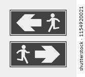 fire hazard. route of... | Shutterstock .eps vector #1154920021