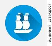 ship  boat. sail ship on blue... | Shutterstock .eps vector #1154920024
