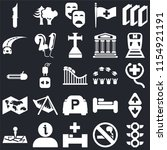 set of 25 icons such as traffic ...