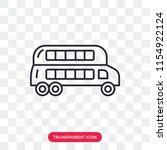 double decker bus vector icon... | Shutterstock .eps vector #1154922124