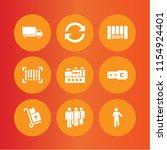 9 warehouse icons in vector set.... | Shutterstock .eps vector #1154924401