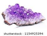 violet crystal stone macro... | Shutterstock . vector #1154925394