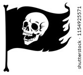 pirate flag  with laughing... | Shutterstock .eps vector #1154925571