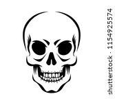 angry human skull  stylized... | Shutterstock .eps vector #1154925574