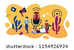 podcast concept. idea of audio... | Shutterstock .eps vector #1154926924