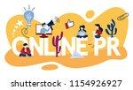 online pr concept. idea of... | Shutterstock .eps vector #1154926927