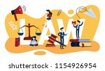 law concept. scales of justice. ... | Shutterstock .eps vector #1154926954