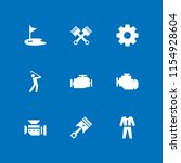 gear icon. 9 gear set with golf ... | Shutterstock .eps vector #1154928604