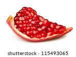 Pomegranate Piece On White...