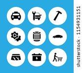 9 mechanic icons in vector set. ...   Shutterstock .eps vector #1154931151