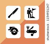 4 sharp icons in vector set.... | Shutterstock .eps vector #1154931247