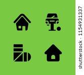 4 renovation icons in vector... | Shutterstock .eps vector #1154931337
