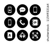 sms icon. 9 sms set with chat ... | Shutterstock .eps vector #1154933164