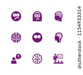 9 think icons in vector set.... | Shutterstock .eps vector #1154933314