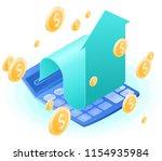 the accountant calculator ...   Shutterstock .eps vector #1154935984