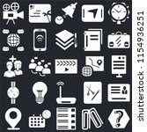 set of 25 icons such as info ...