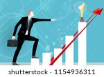 successful businessman pointing ... | Shutterstock .eps vector #1154936311