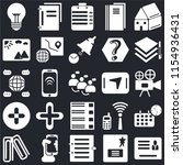 set of 25 icons such as id card ...