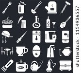 set of 25 icons such as cabinet ...