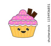 yummy kawaii cake  muffin... | Shutterstock .eps vector #1154936851