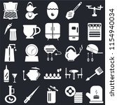 set of 25 icons such as mitten  ...