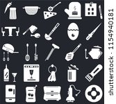 set of 25 icons such as dish ...