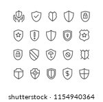 set of shields protection... | Shutterstock .eps vector #1154940364