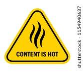 content is hot warning label... | Shutterstock .eps vector #1154940637