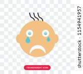 crying smile vector icon... | Shutterstock .eps vector #1154941957