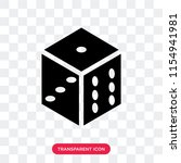dice vector icon isolated on... | Shutterstock .eps vector #1154941981