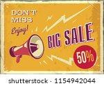 vector vintage megaphone. big... | Shutterstock .eps vector #1154942044