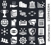 set of 25 icons such as agenda  ...