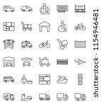 thin line vector icon set  ...   Shutterstock .eps vector #1154946481