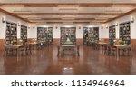 reading hall interior. 3d... | Shutterstock . vector #1154946964