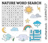 learn english with a nature... | Shutterstock .eps vector #1154947117