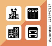 4 motel icons in vector set.... | Shutterstock .eps vector #1154947837