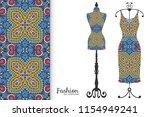 vector fashion illustration ... | Shutterstock .eps vector #1154949241
