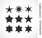 stars shapes vector collection... | Shutterstock .eps vector #1154953891